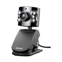 Webcam 1.3~5.0MP Com Microfone Prata WC040 Multilaser