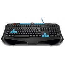 Teclado USB Multimídia Gamer Preto/Azul TC185 Multilaser