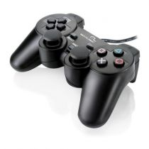 JOYPAD DUAL SHOCK PARA PLAYSTATION 2/3 E PC PRETO JS071 MULTILASER