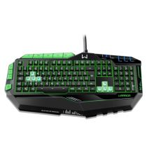 Teclado USB Multimídia Gamer Preto/Verde TC199 Multilaser