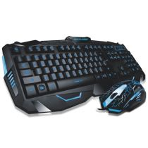 Teclado E Mouse Optico USB Gamer Lightning Preto/Multicolorido TC195 Multilaser