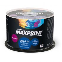 DVD+R Dual Layer 8.5GB Printable (N) 50un 506085 Maxprint