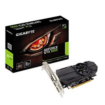 Placa De Video 2GB DDR5 128 Bit PCI-E (DVI, 2xHDMI e D.Port) Low Profile Geforce GTX 1050 Gigabyte