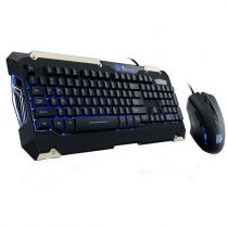 Teclado E Mouse Optico USB Gamer Commander Preto/Azul KB-CMC-PLBLPB-01 Thermaltake