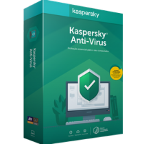 Kit Licença De Uso Do Kaspersky Antivirus 2-User 5-dispositivos Pack (1 Ano)
